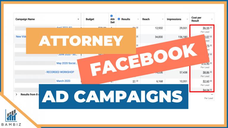 Attorney Facebook Ad Campaigns