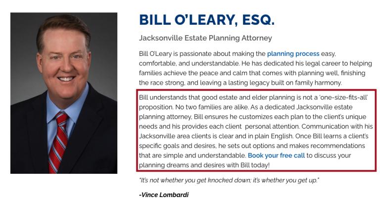 Elder Law Marketing Value Proposition